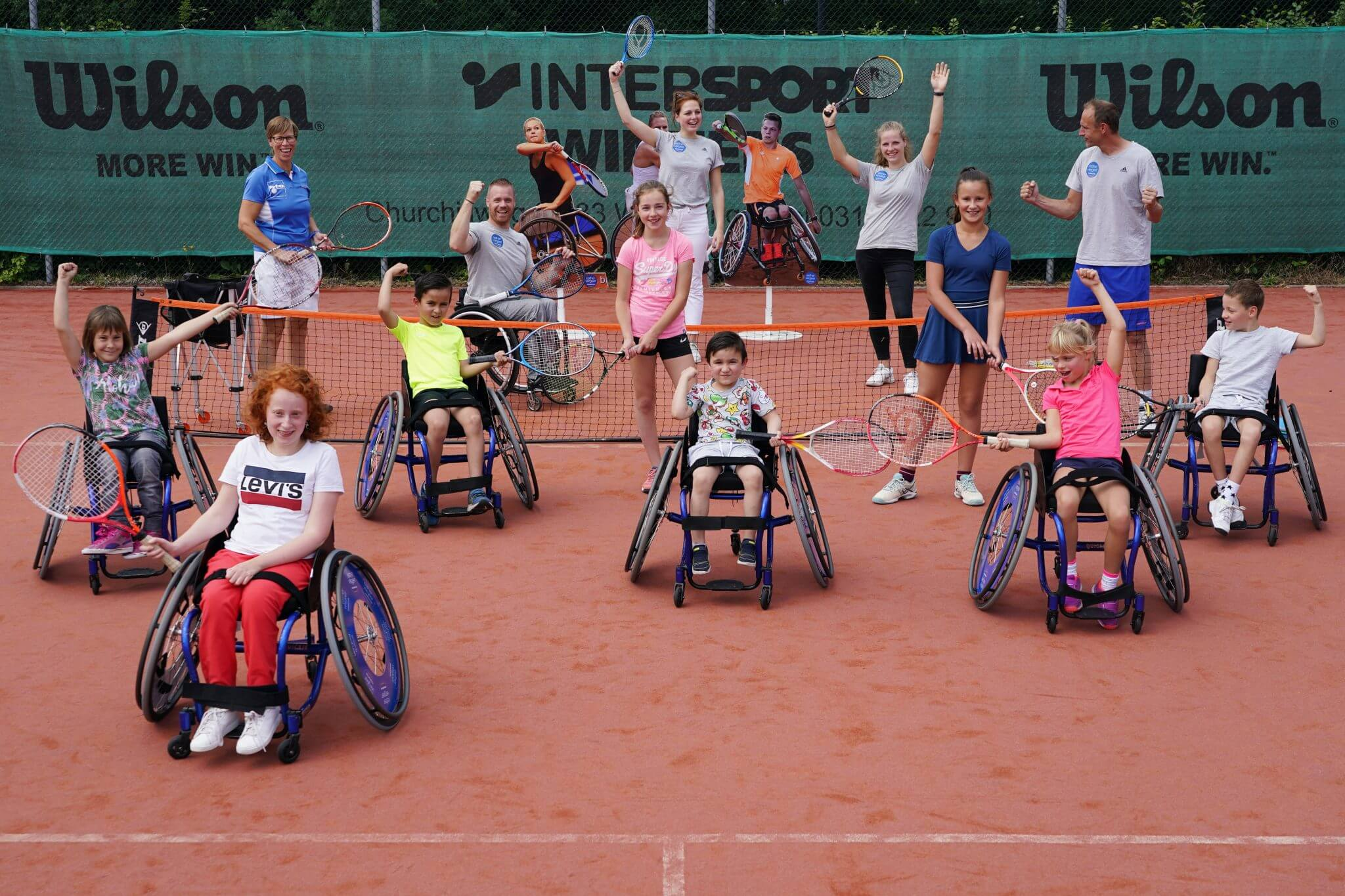 Rolstoeltennis-clinic Esther Vergeer Foundation